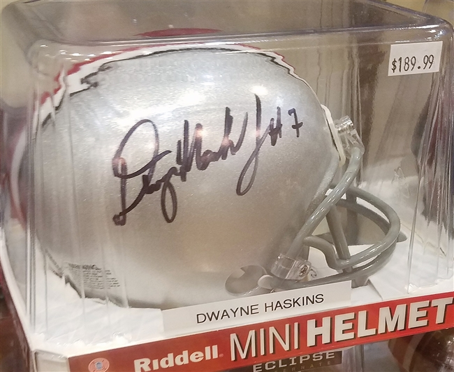 Dwayne Haskins Signed Mini Helmet